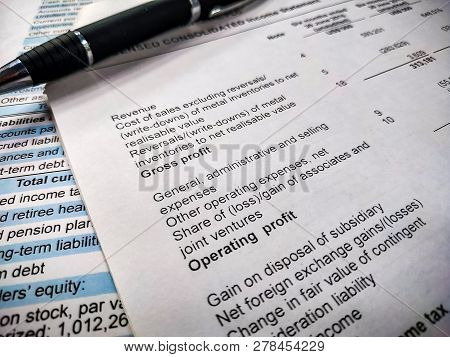Balance Sheet Of Financial Statement, Analysis Of Business Plan For Stockholders