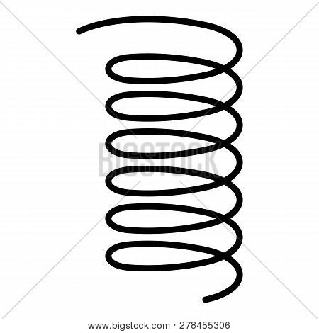 Pressure Spring Icon. Outline Pressure Spring Vector Icon For Web Design Isolated On White Backgroun