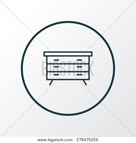 Dresser icon line symbol. Premium quality isolated sideboard element in trendy style. poster