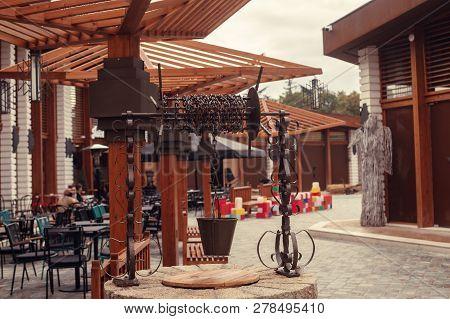 Tirana, Albania. January 2019: Historical Particular Of The Market In Tirana, New Tourist Attraction