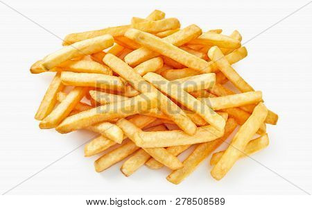 Above View Of French Fries.