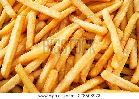 Fresh Potato French Fries In Full Frame
