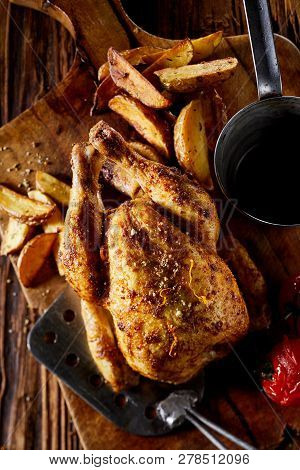 Grilled Seasoned Poisson Or Spring Chicken
