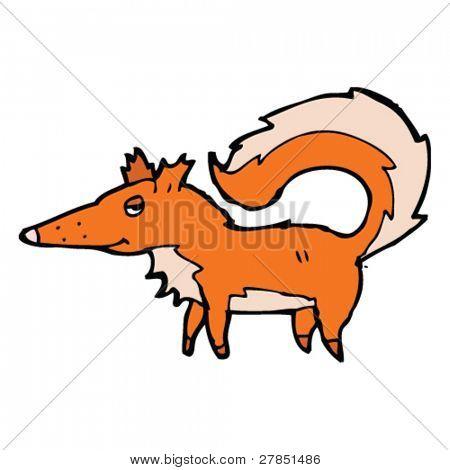 posh fox cartoon