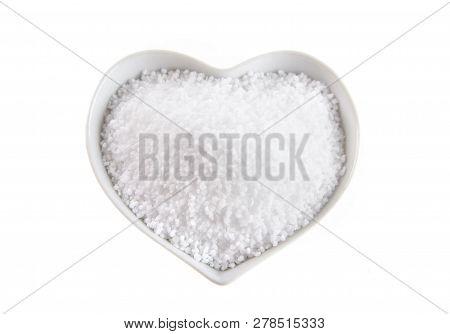 Heart Shaped Bowl Of Fleur De Sel Salt
