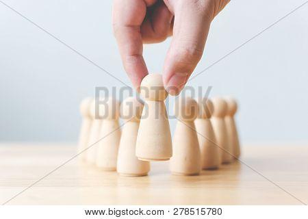 Human Resource, Talent Management, Recruitment Employee, Successful Business Team Leader Concept. Ha