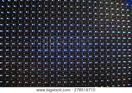 Led Lights Bulb Diode From Led Tv Or Led Monitor Screen Display Panel. Led Lights For Graphic Websit