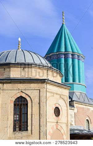 Mevlana monastery and museum in Konya, Turkey. The Building has been erected at 1276 poster