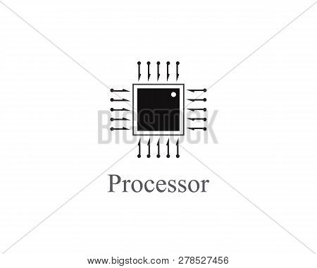 Abstract Processor Logo Technology Template Design