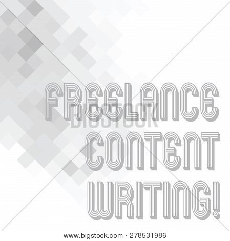 Conceptual Hand Writing Showing Freelance Content Writing. Business Photo Text Online Writing Linked