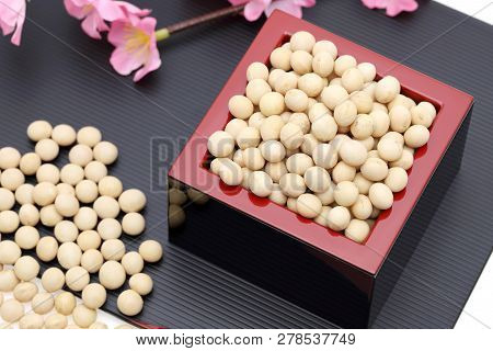 Japanese Traditional Event, Soybeans Are Used On An Annual Event /setsubun.