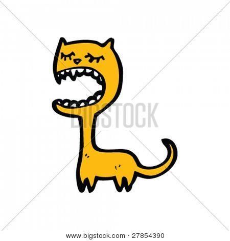cat singing cartoon