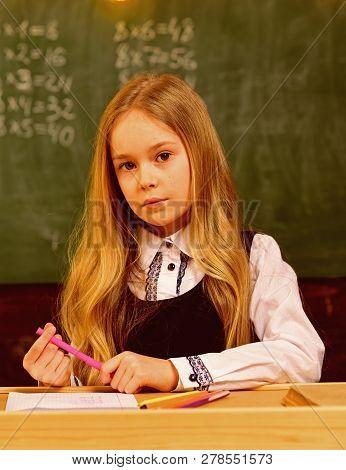 Beautiful Hair. Beautiful Hair Of School Girl. Beautiful Hair For Girl After Hairdresser. Beautiful