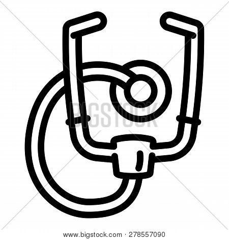 Stethoscope Icon. Outline Stethoscope Icon For Web Design Isolated On White Background