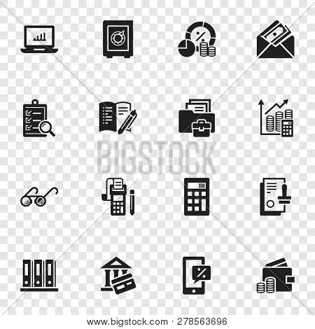 Accounting International Day Icon Set. Simple Set Of Accounting International Day Icons For Web Desi