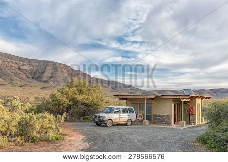 Tankwa Karoo National Park, South Africa, August 30, 2018: A Camping Site At Perdekloof In The Tankw