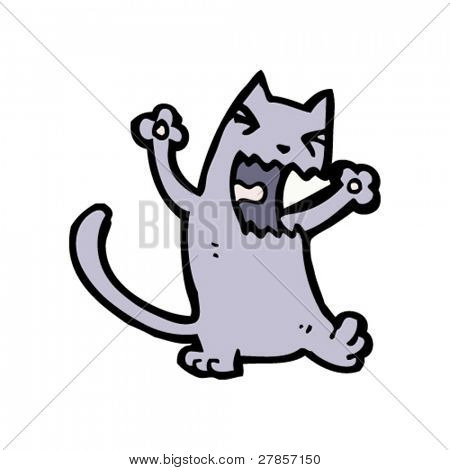 yowling cat cartoon