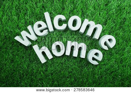 Welcome Home from made from concrete alphabet poster