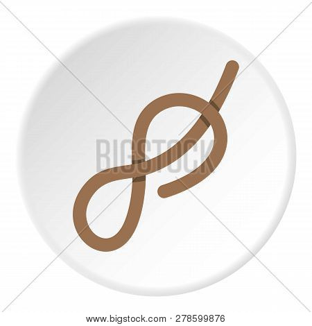 Ship Rope Con. Flat Illustration Of Ship Rope Knot Icon In Flat Circle Isolated Illustration For Web