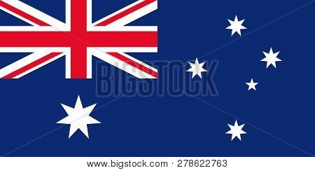 Australia Flag. Vector. Australian Official State Sign. National Flag Of Australia With Union Jack A