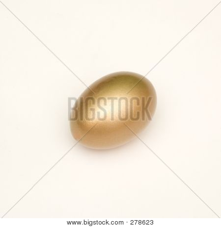 isolated golden egg poster