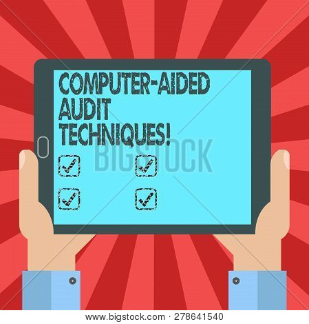 Conceptual Hand Writing Showing Computer Aided Audit Techniques. Business Photo Text Using Computer