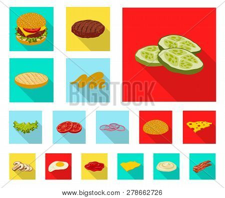 Vector Illustration Of Burger And Sandwich Logo. Collection Of Burger And Slice Stock Vector Illustr