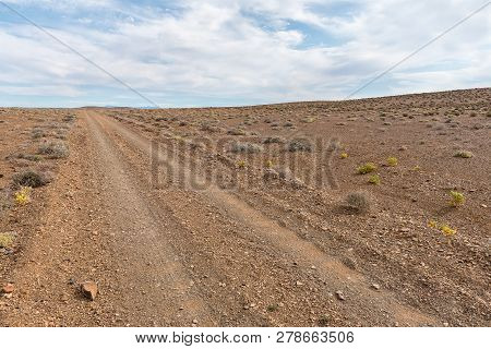 A Badly Corrugated Gravel Road In The Tankwa Karoo In The Northern Cape Province Of South Africa