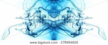 Ink Swirl In A Water On Color Background. The Paint Splash In The Water. Soft Dissemination A Drople