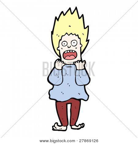 terrified person cartoon