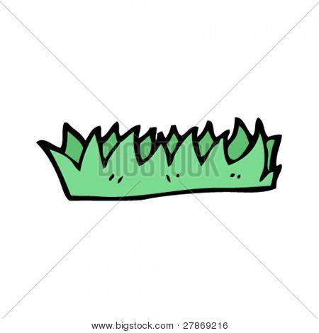 simple clod of grass cartoon