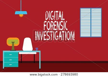 Text Sign Showing Digital Forensic Investigation. Conceptual Photo Recovery Of Information From Comp