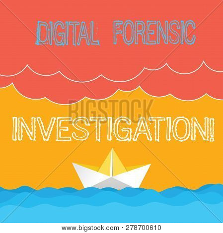 Word Writing Text Digital Forensic Investigation. Business Concept For Recovery Of Information From