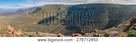 A Panoramic View Of The Gannaga Pass In The Tankwa Karoo Of South Africa