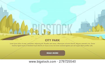 View Panorama City Park Center Big Metropolis. Place To Relax Family Weekend, Holiday. Morning Fitne