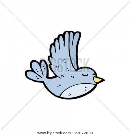 flying bluebird cartoon