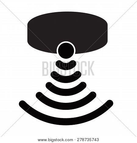Motion Sensor Icon On White Background. Flat Style.sensor Waves Signal Icon For Your Web Site Design