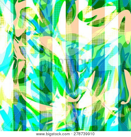 Seamless Abstract Modern Shapes Pattern Background Romantic