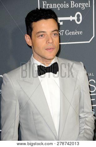 Rami Malek at the 24th Annual Critics' Choice Awards held at the Barker Hangar in Santa Monica, USA on January 13, 2019.