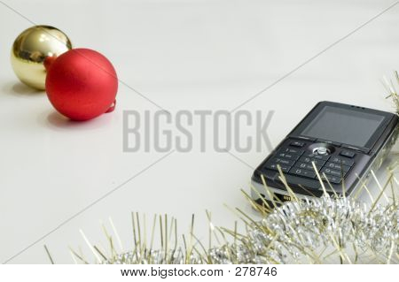 Cell Phone And Christmas Ball
