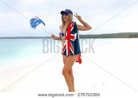 Australian Beach Culture, Aussie Pride, Australia Day, Australian Travel Or Tourism. Fun Loving Beac