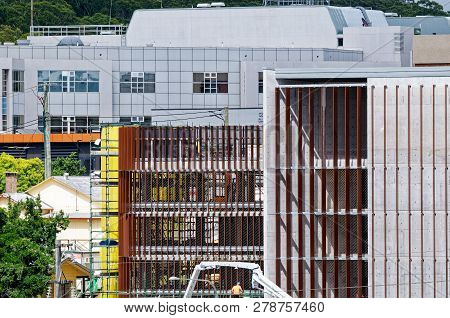 Gosford, New South Wales, Australia - December 18, 2018: Construction And Building Work On Gosford H
