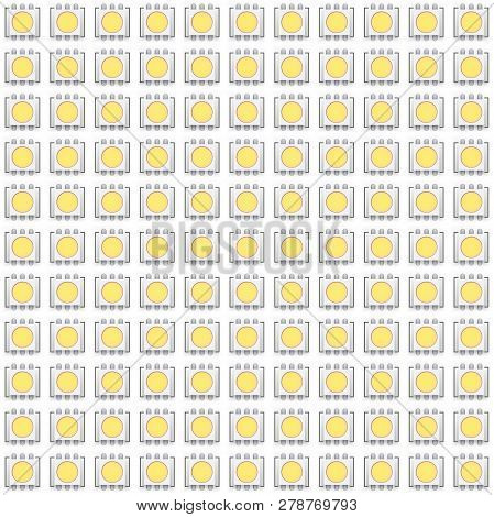 Set Of Typical Led Seamless Pattern. Vector Illustration Isolated On White Background