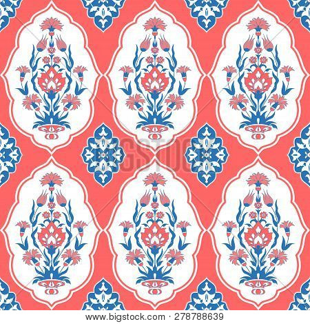 Decorative Seamless Pattern In Traditional Oriental Style