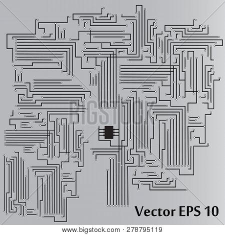Circuit Board. Circuit Board Background. Vector Illustration