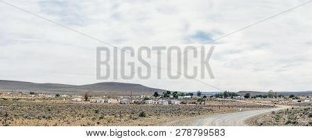 Middelpos, South Africa, August 31, 2018: A Panoramic View Of Middelpos In The Northern Cape Karoo