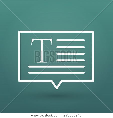 Speech To Text Or Text To Speech, Speech Notes Bubble Icon. Voice To Text, Text To Voice Concept. Ve