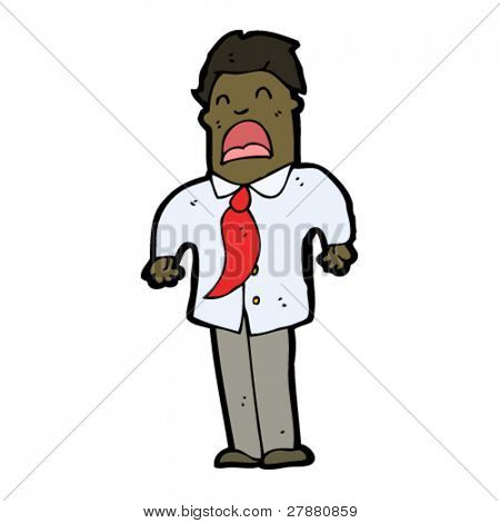 cartoon moaning businessman