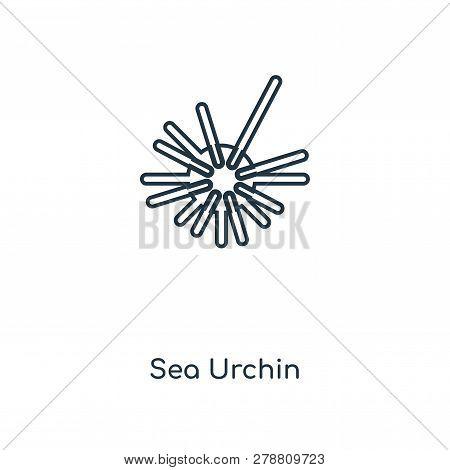 Sea Urchin Icon In Trendy Design Style. Sea Urchin Icon Isolated On White Background. Sea Urchin Vec