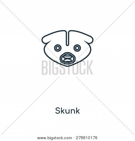 Skunk Icon In Trendy Design Style. Skunk Icon Isolated On White Background. Skunk Vector Icon Simple